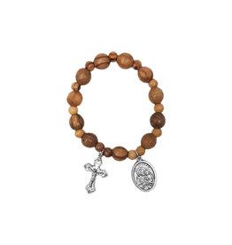 Olive wood Saint Joseph bracelet