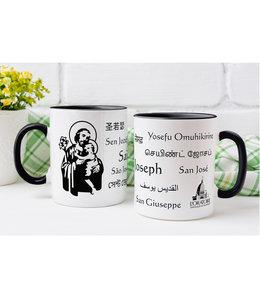 L'Oratoire Saint-Joseph du Mont-Royal Saint Joseph mug, 11 languages