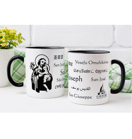 L'Oratoire Saint-Joseph du Mont-Royal Saint Joseph mug, 11 languages