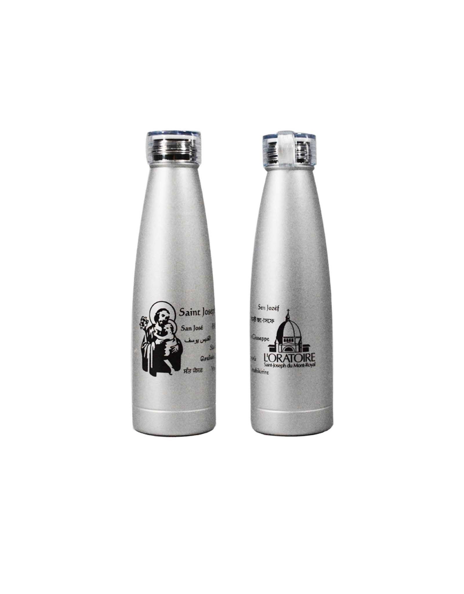 L'Oratoire Saint-Joseph du Mont-Royal Saint Joseph water bottle, 11 languages