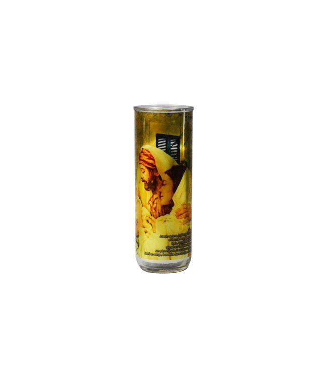 Chandelles Tradition / Tradition Candles Year of Saint Joseph votive candle glass holder