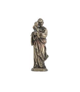 Collection Veronese Statue de saint Joseph en résine fini bronze (21 cm)