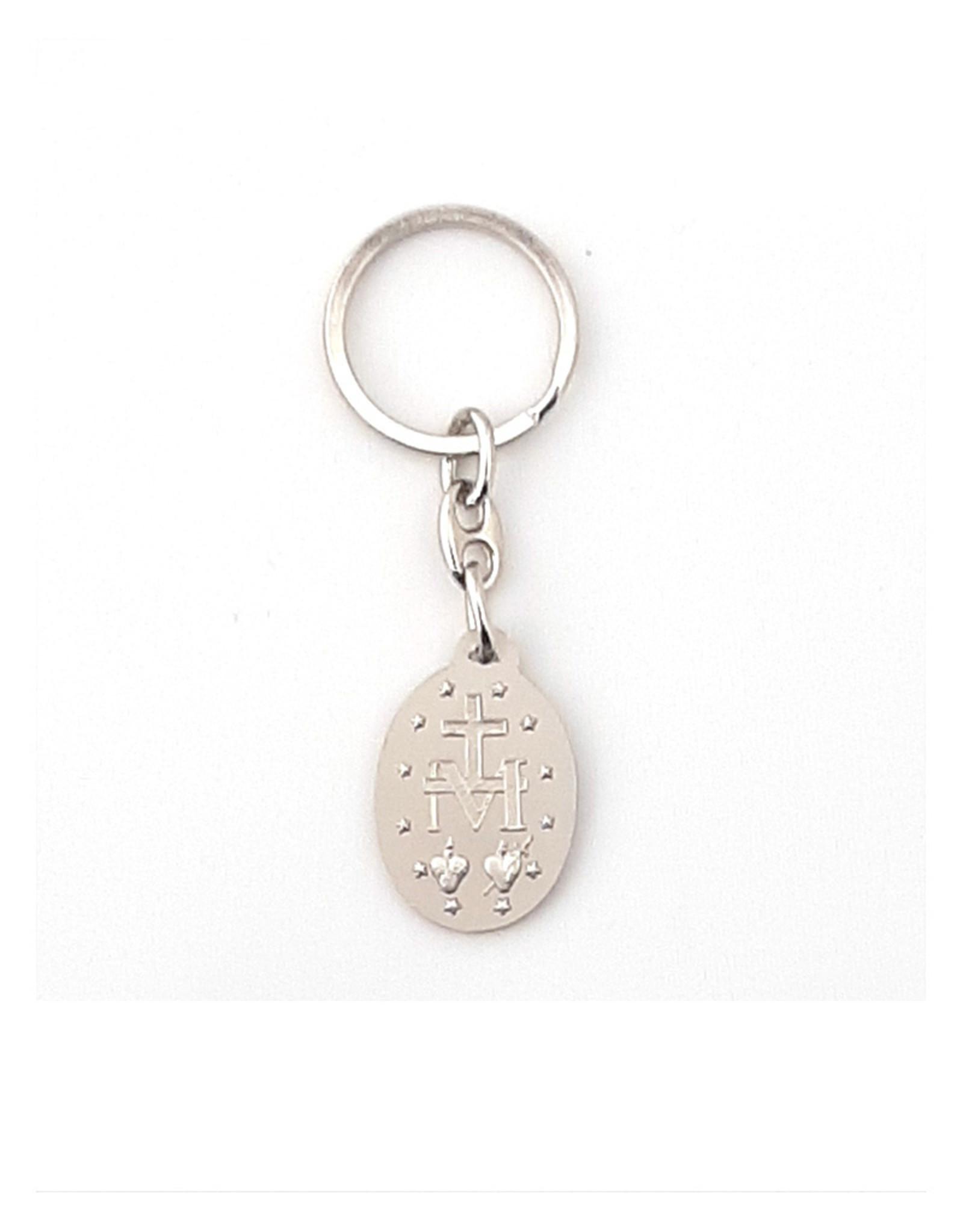 Porte-clés Médaille Miraculeuse émail bleu