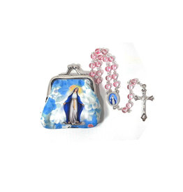 Miraculous Virgin rosary and case