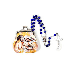 Holy Family rosary and case