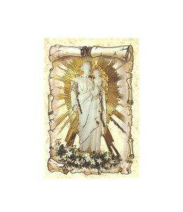 Image saint Joseph rayons de la Crypte sur fond de parchemin
