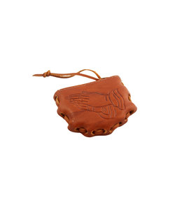 Leather rosary pouch (various themes)