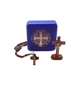 Saint Benedict Crucifix and rosary set