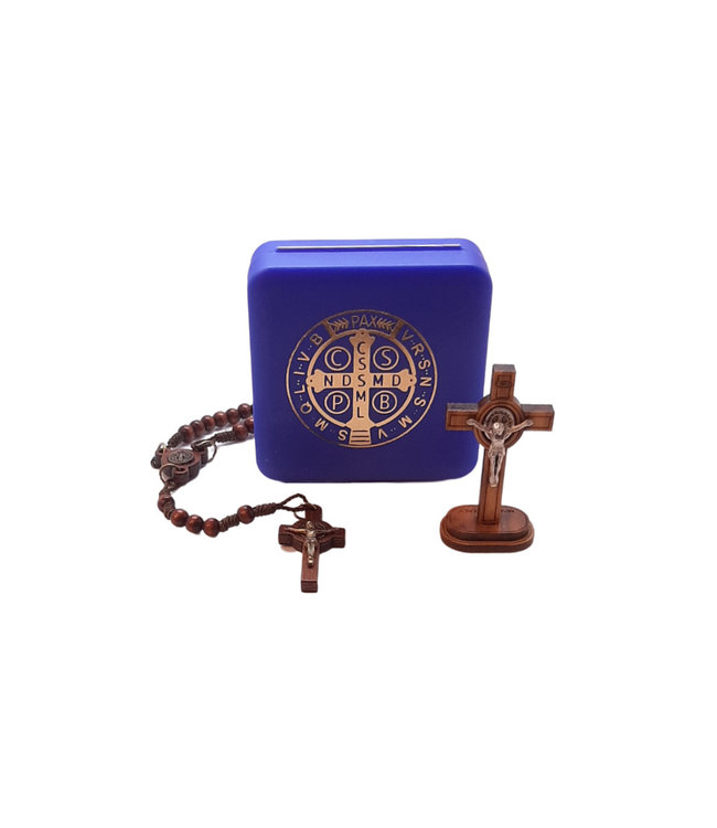 St Benedict Crucifix and rosary set