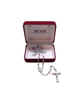 McVan Multi-colored Swarovski crystal rosary