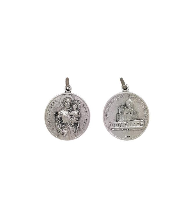 Grande médaille Saint Joseph et Oratoire (30mm)