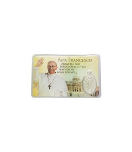 Pope Francis medal card  (4 languages)