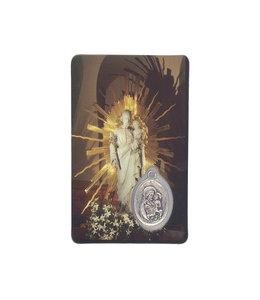 Saint Joseph of the Crypt medal card