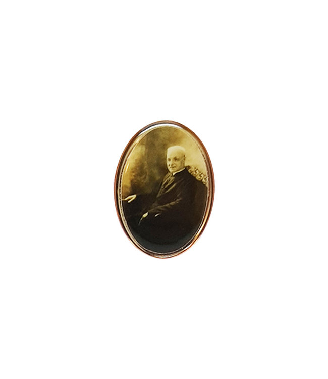 Saint Brother Andre golden lapel pin