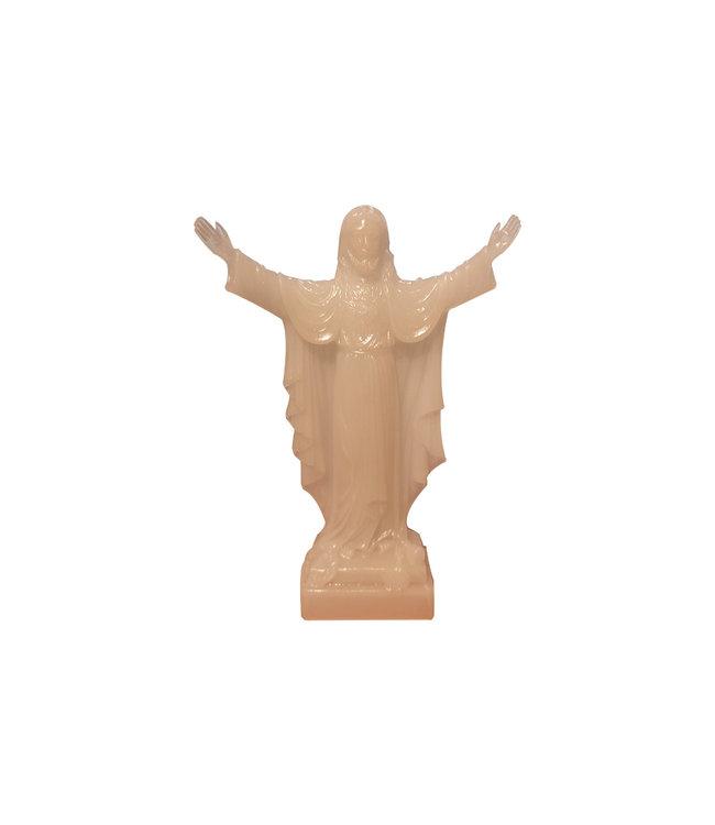Statue du Sacré Coeur de Jésus phosphorescente (16cm)