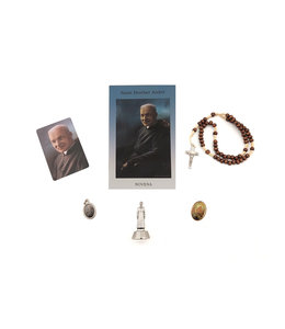 Saint Brother Andre devotion kit with rosary