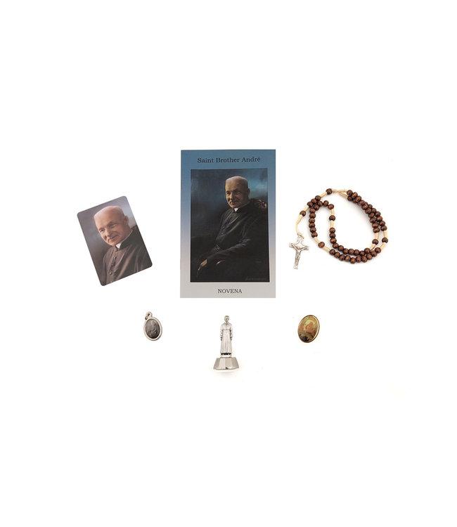 Ensemble de dévotion à saint frère André avec chapelet (anglais)
