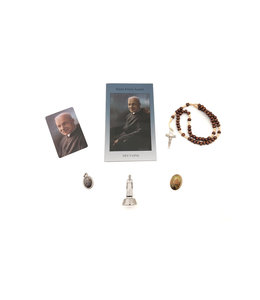 Saint Brother Andre devotion kit with rosary (french)