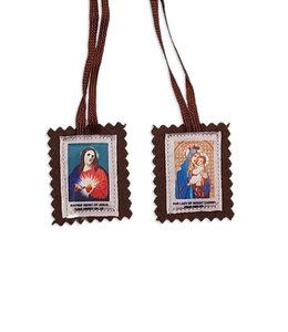 Scapulaire brun de Notre-Dame du Mont Carmel