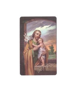 Copy of Carte plastifiée avec prière en anglais Saint Joseph ENG904