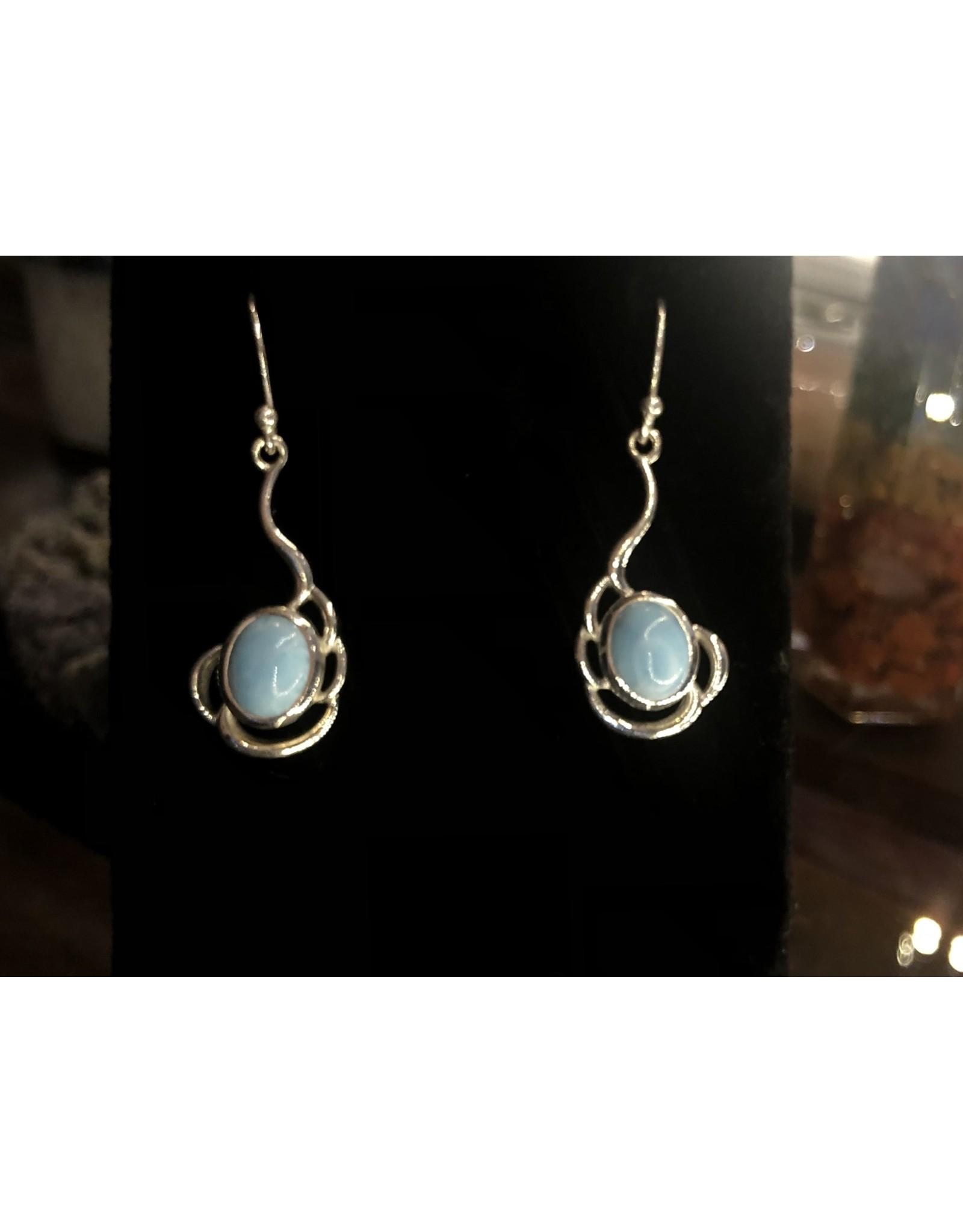 Sanchi and Filia P Designs Larimar Earrings