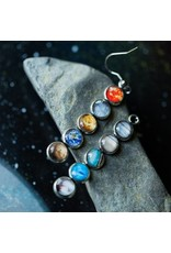 Mis-Matched Solar System Earrings