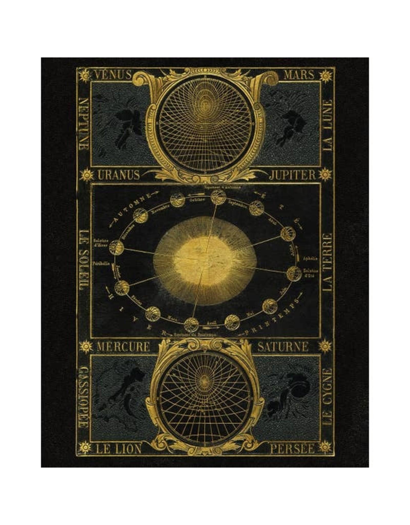 "Capricorn Press Gold Zodiac Print | 11  x 14"""