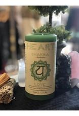Anahata - Heart Chakra Pillar Candle