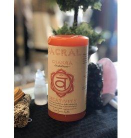 Crystal Journey Candles Svadisthana - Sacral Chakra Pillar Candle
