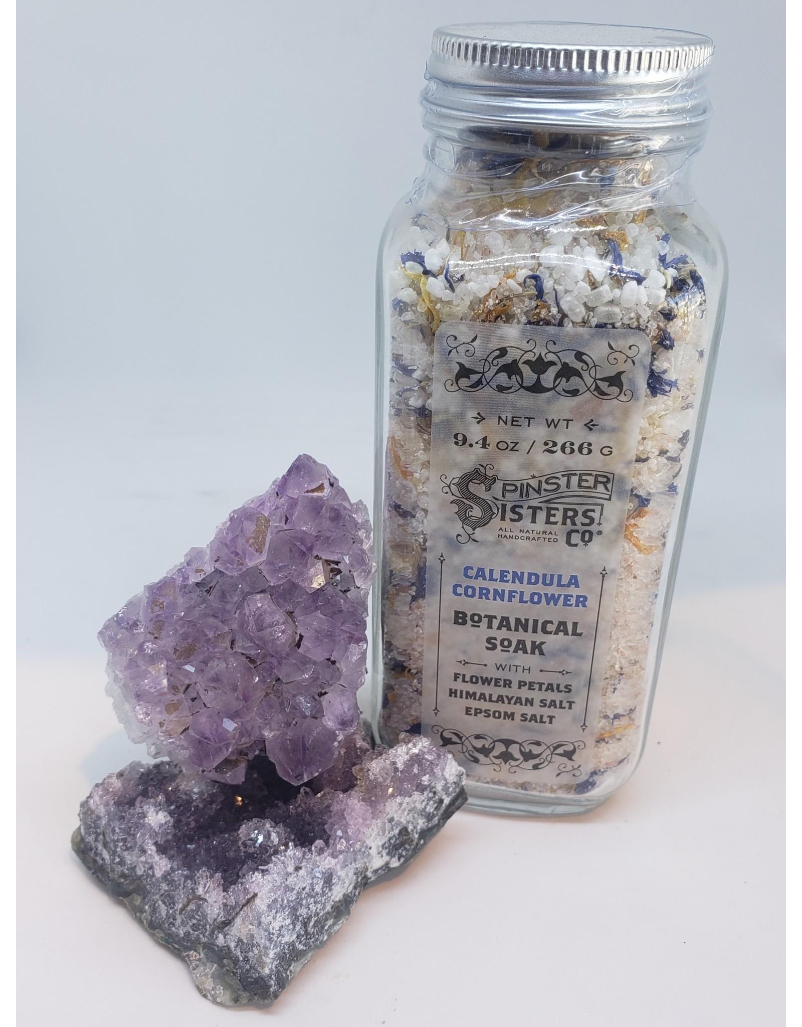Spinster Sisters Co. Botanical Soak 9.4 oz. Bottle | Calendula Cornflowers