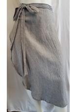 The Handloom - Duru Wrap Skirt - Grey