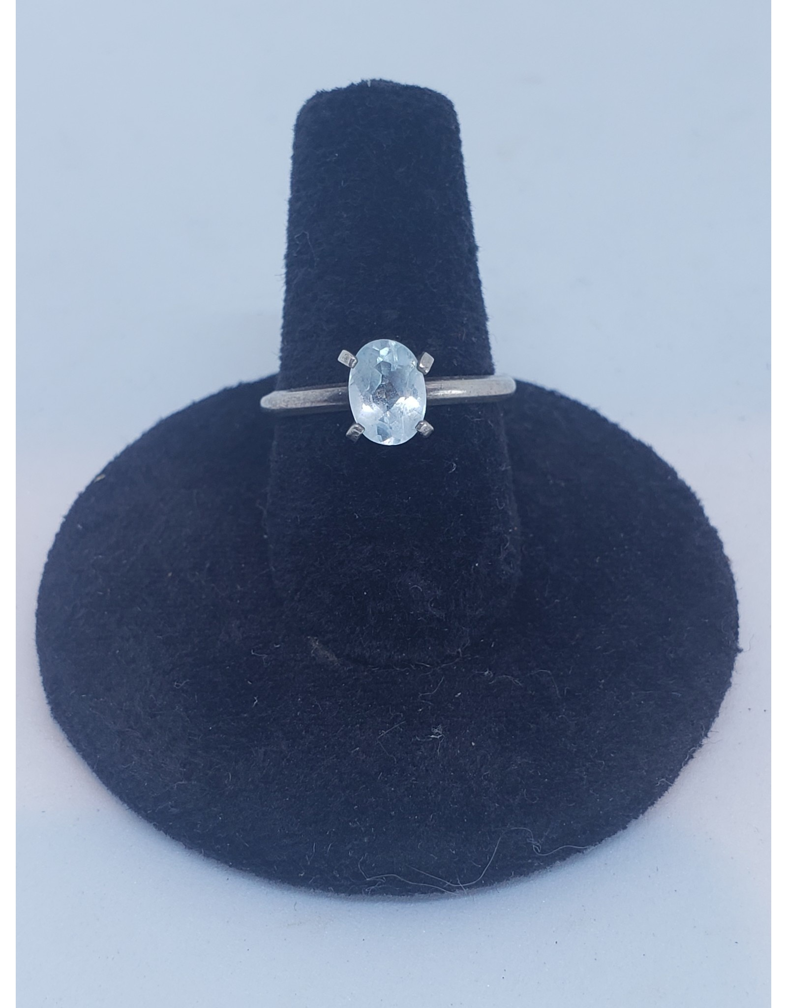 Blue Topaz Princess Ring - Sz. 6-7