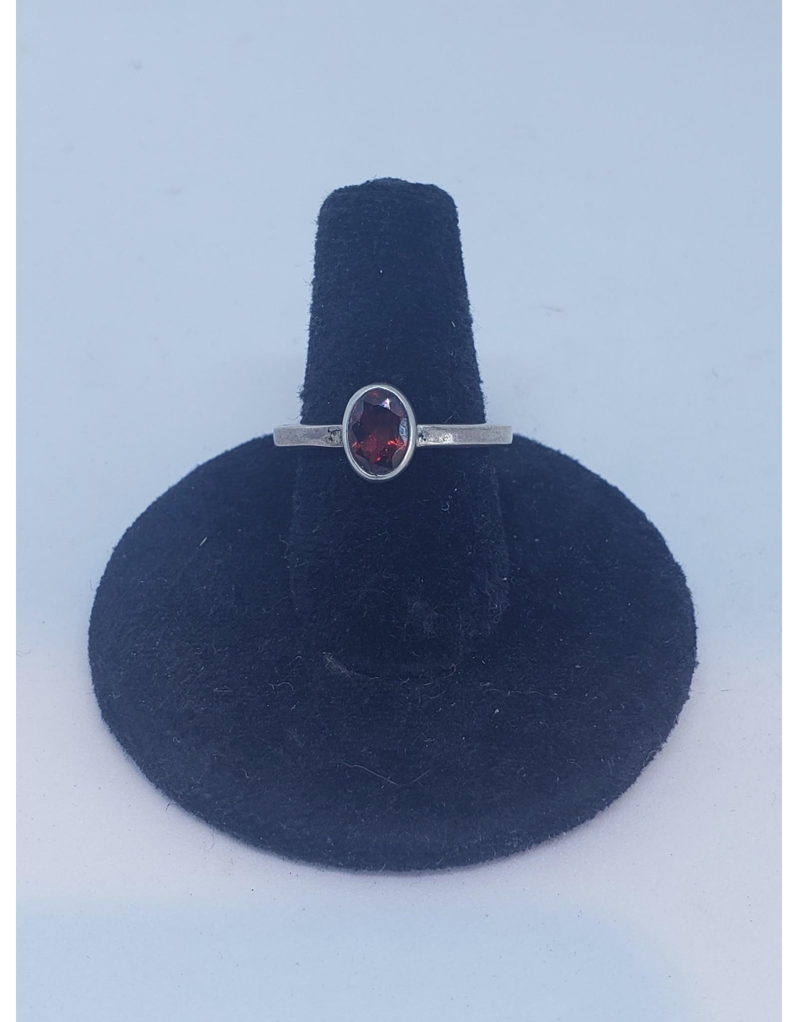 Garnet Oval Small Ring