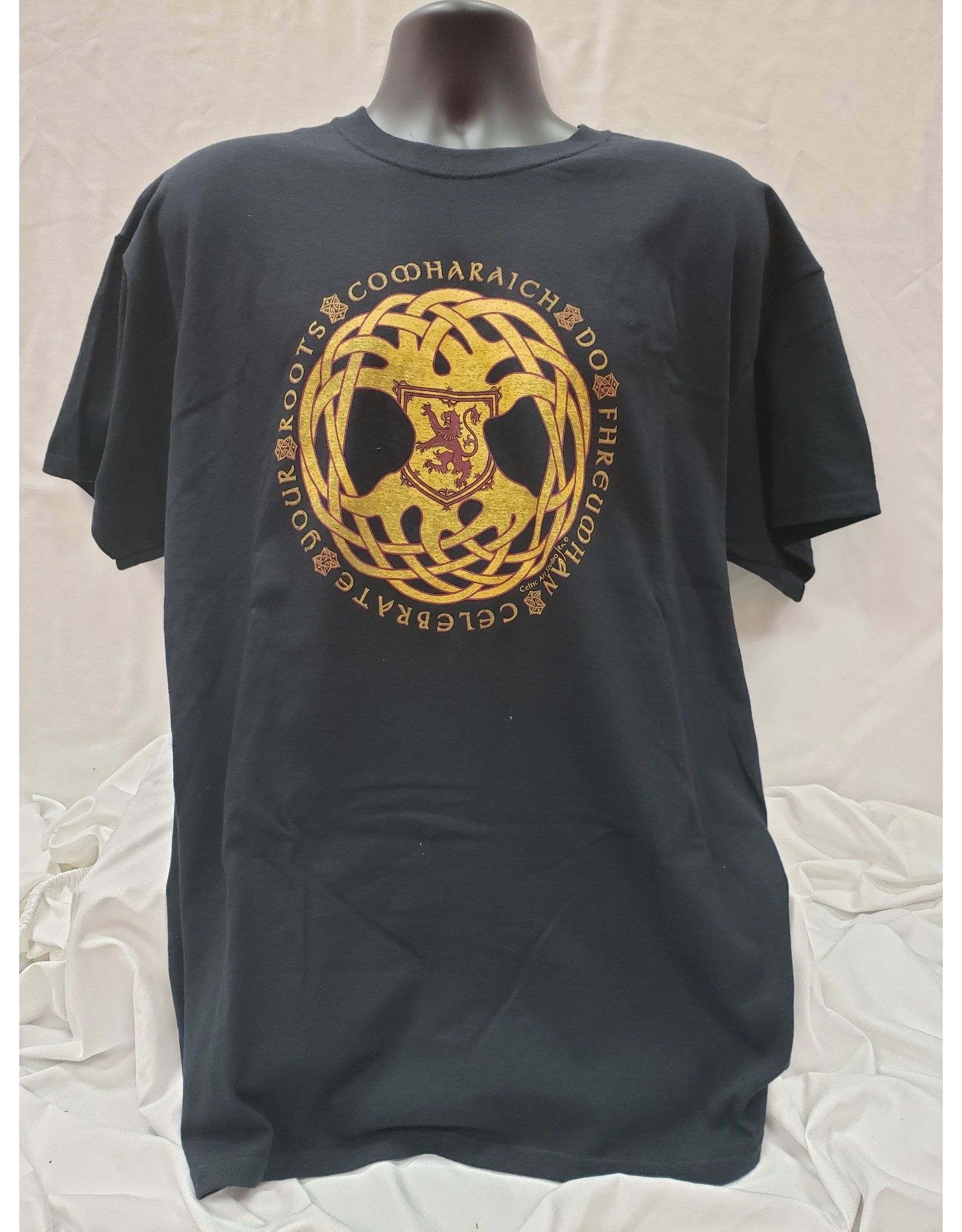 Gaelic Roots T Shirt Black