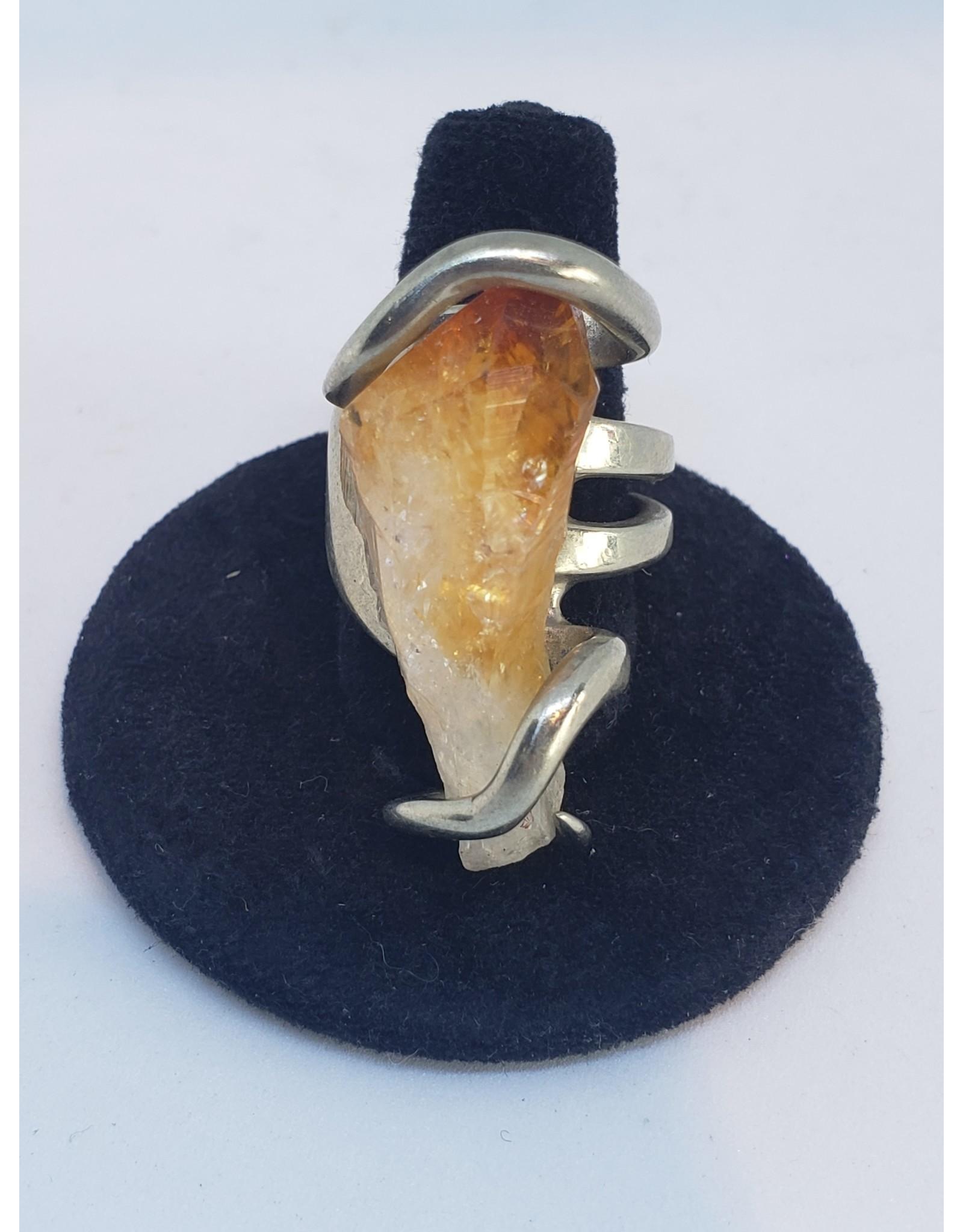 Handmade Citrine Ring - Sz 7