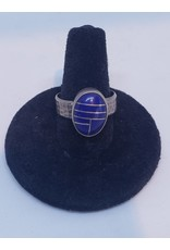 Lapis Ring with Design