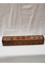 Wood Incense Storage Box Carved