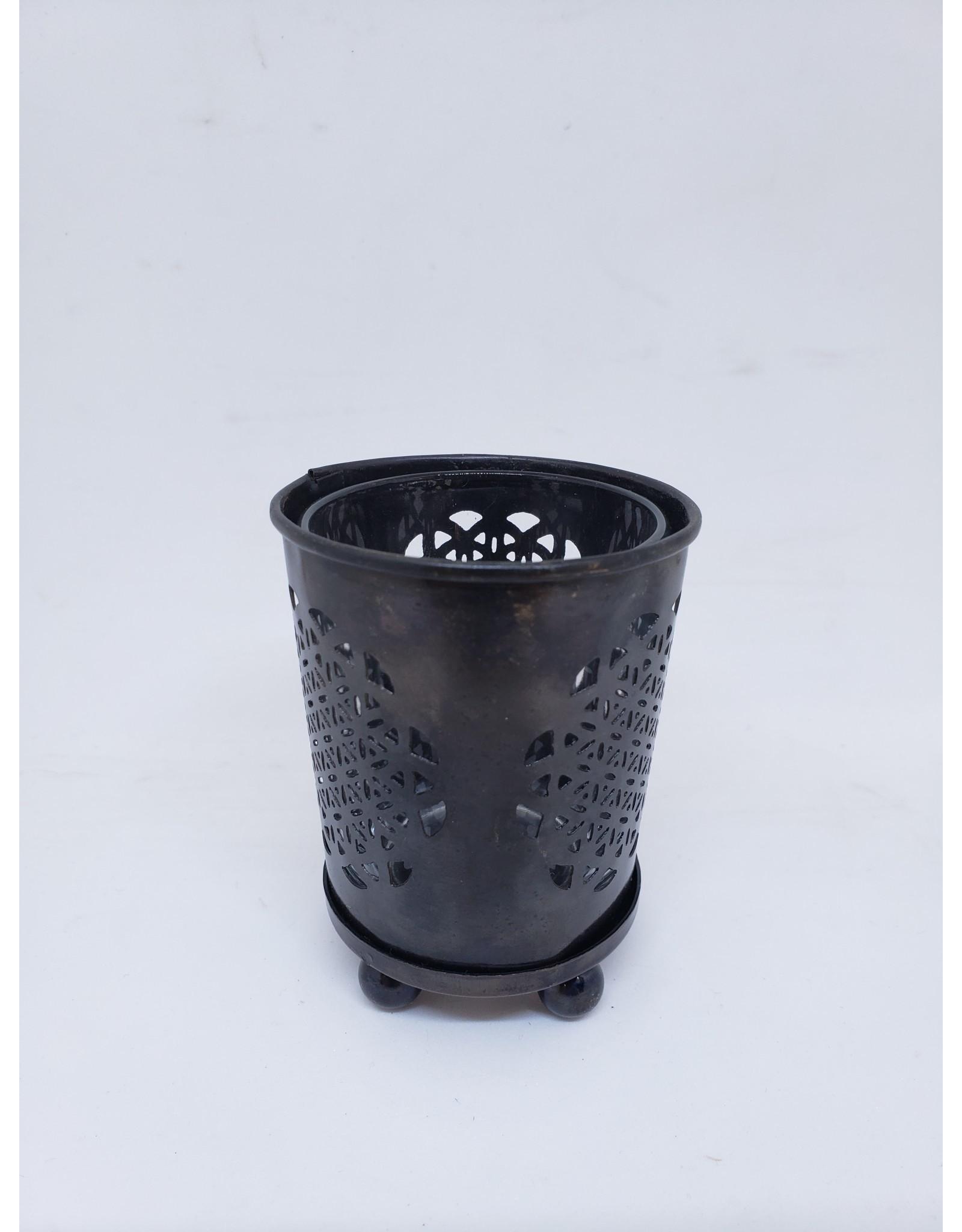 Metal Flower of Life Votive Holder w/glass insert