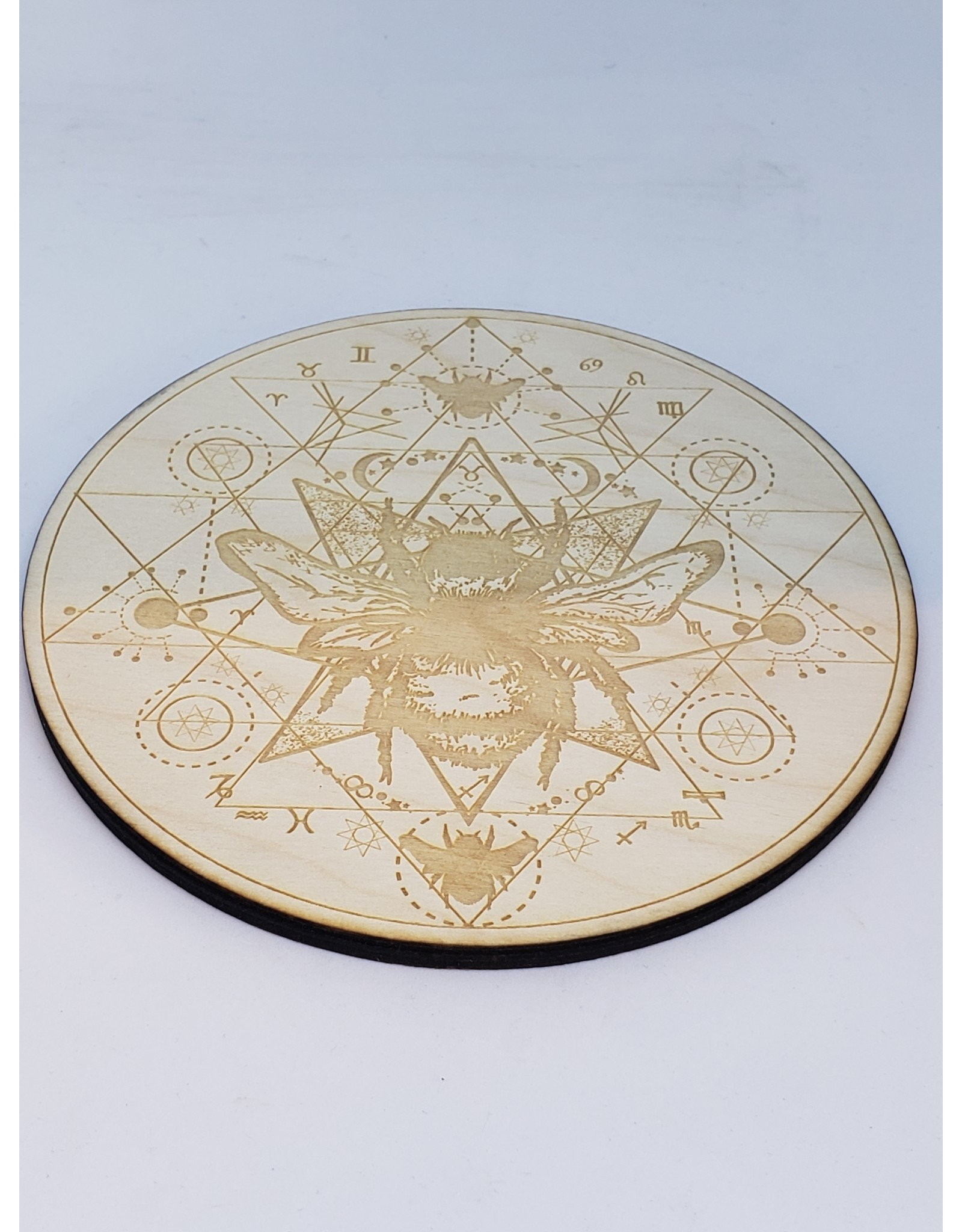 """Zen and Meow Honey Bee Crystal Grid - 6"""""""
