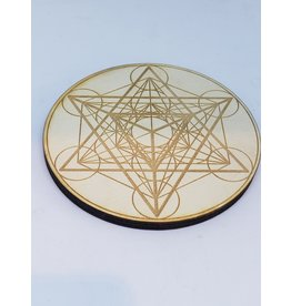 Zen and Meow Metatron's Cube Platonic Solids Crystal Girl - 4""