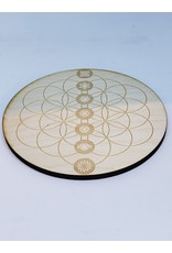"""Zen and Meow Flower of Life Chakras Crystal Grid - 6"""""""