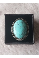 Angel Vaughan Sterling Turquoise Ring
