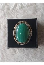 Angel Vaughan Sterling Moss Agate Ring