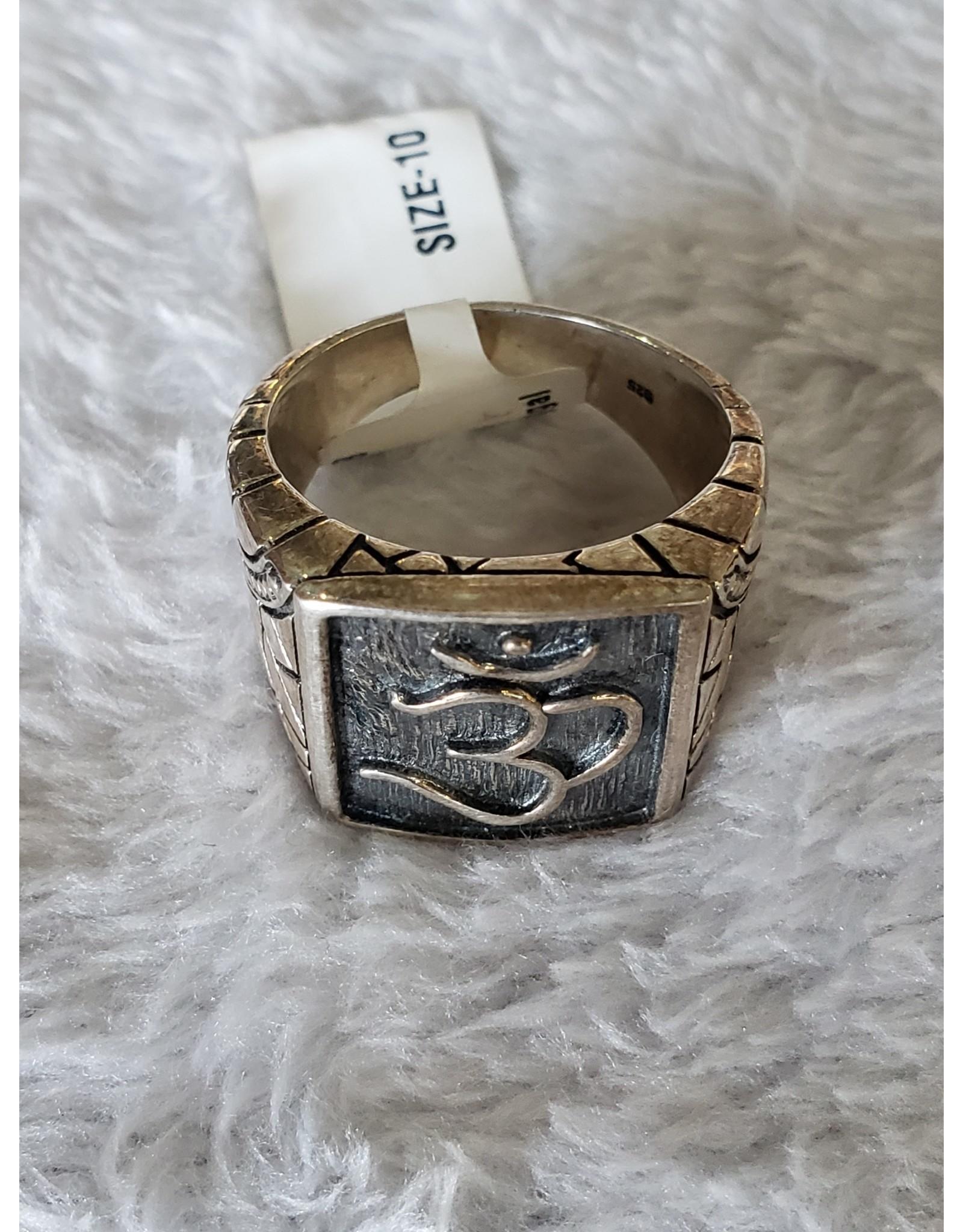 SS OM Symbol Ring - Size 10