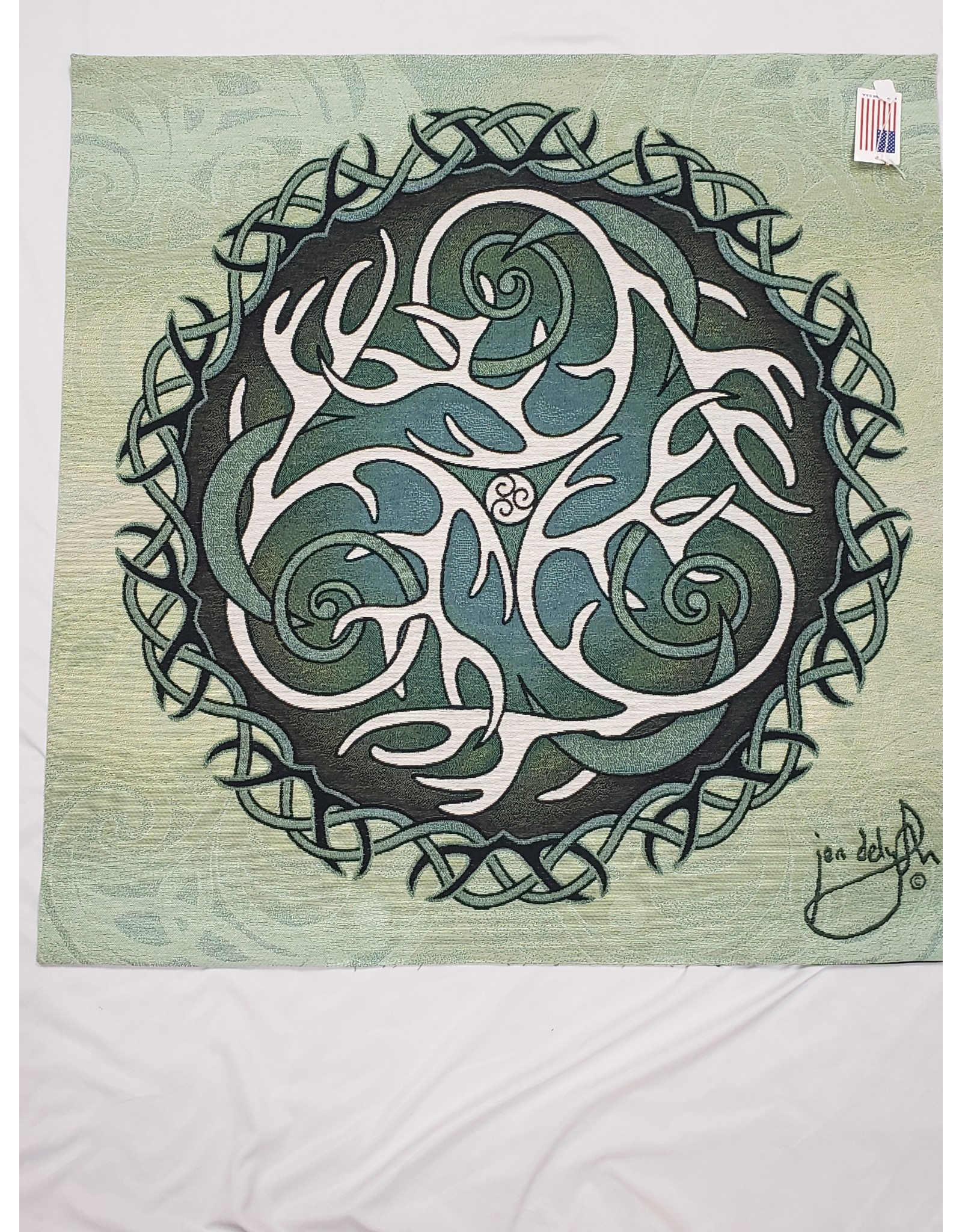 Antlers & Moon Fine Art Tapestry