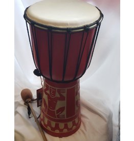 Djembe Large Red Drum