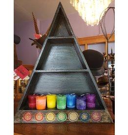 Wooden Chakra Altar Shelf
