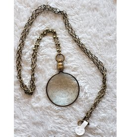Dani Awesome Bronze Magnifying Glass Necklace