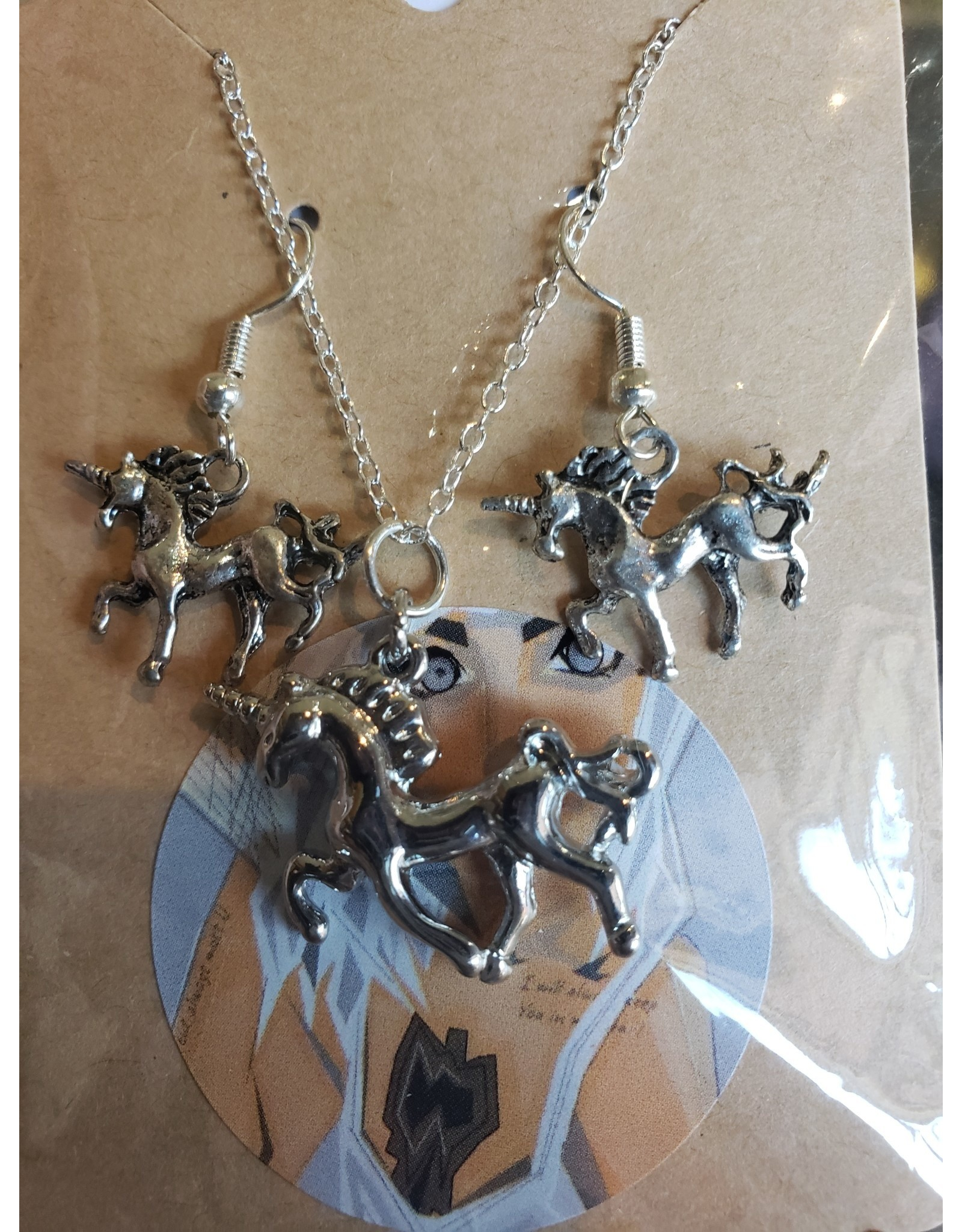 Angel Vaughan Unicorn Necklace & Earrings