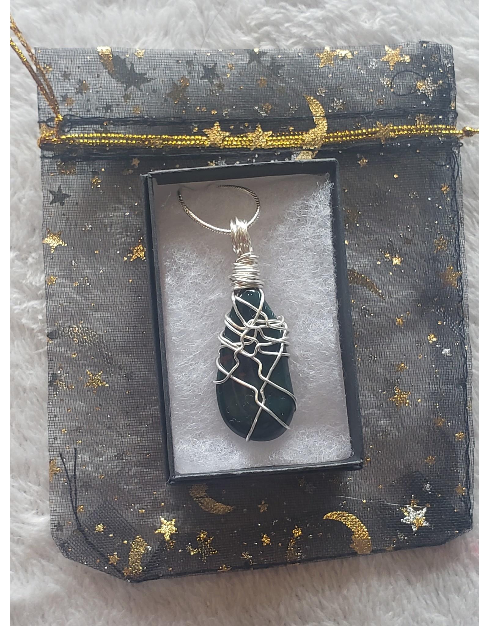 Angel Vaughan Bloodstone Wire Wrap